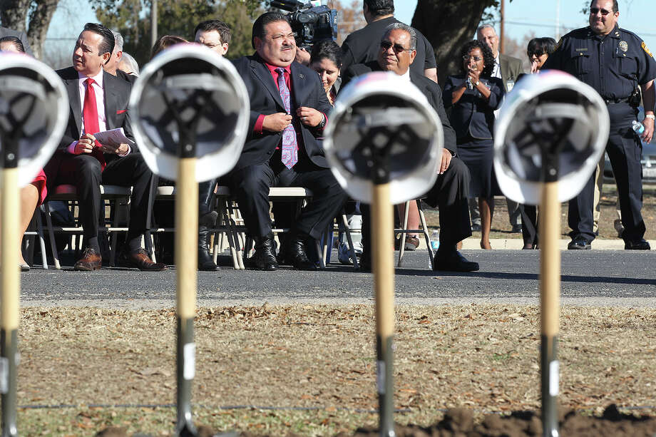 Dignitaries and officials attend the groundbreaking for the  Science Technology Engineering and Math Early College High School in January.   The  board must be transparent as it plans its next bond package. Photo: Jerry Lara, San Antonio Express-News / © 2014 San Antonio Express-News