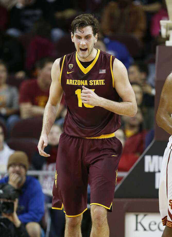 Jordan Bachynski, a 7-foot-2 senior, leads the nation in blocked shots. Photo: Danny Moloshok, Associated Press