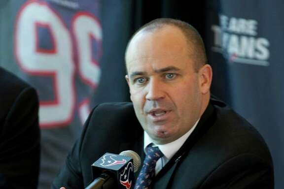 New head coach Bill O'Brien says he plans to call the plays in his first season with the Texans. O'Brien comes to the Texans, replacing Gary Kubiak, after two seasons as the head coach at Penn State. ( Brett Coomer / Houston Chronicle )