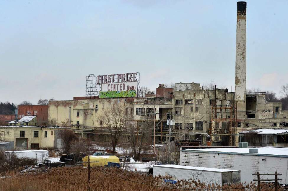 View of the former Tobin First Prize packing plant from Everett Road Wednesday Dec. 11, 2013, in West Albany, NY. (John Carl D'Annibale / Times Union)