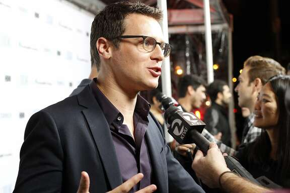 "Actor Jonathan Groff, who plays Patrick, at the premiere of the HBO show ""Looking"" at the Castro Theatre in San Francisco, Calif., on Tuesday, January 14, 2014."