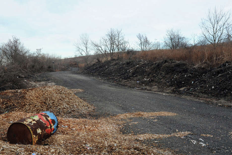 The old landfill in near Seaside Park, in Bridgeport, Conn., Jan. 13, 2014. The city hopes to install solar panels on the mound to generate electricity. Photo: Ned Gerard / Connecticut Post