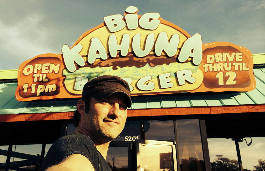 S.A. native/maverick director Robert Rodriguez poses with his Kahuna Burger set in Austin for his first TV original 'From Dusk Till Dawn': The Series'.  Photo: El Rey