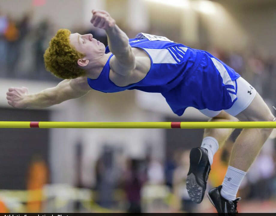The Blue Wave Booster Club recently purchased and delivered a new high jump pit at Darien High School. Photo: Contributed Photo, Contributed / Darien News