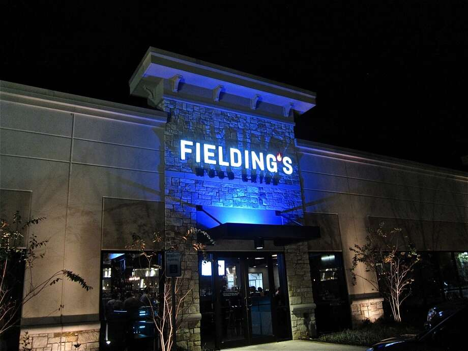 The exterior of Fielding's Wood Grill.