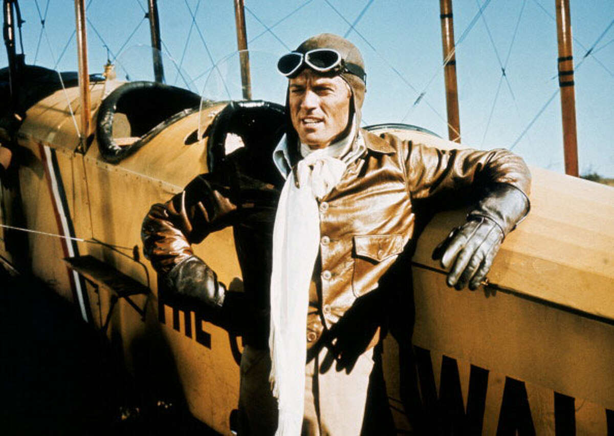 Set during 1926-1931, the movie stars Robert Redford as a disaffected World War I veteran pilot who missed the opportunity to fly in combat. Directed by George Roy Hill.