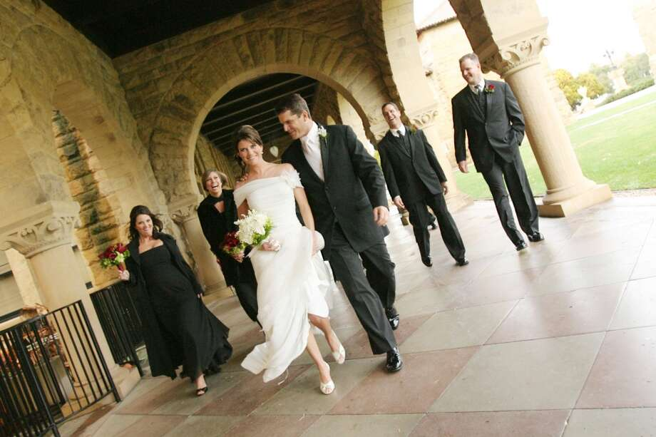 Jim and Sarah Harbaugh on their wedding day back in 2008. Photo: Chung Chan, Special To The Chronicle
