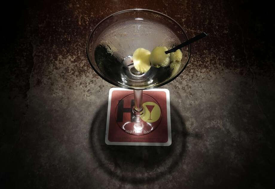 The standard martini at SoHo Wine & Martini Bar. Photo: Kin Man Hui, Express-News