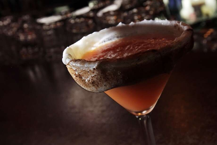 The carrot cake martini at SoHo Wine & Martini Bar. Photo: Kin Man Hui, Express-News