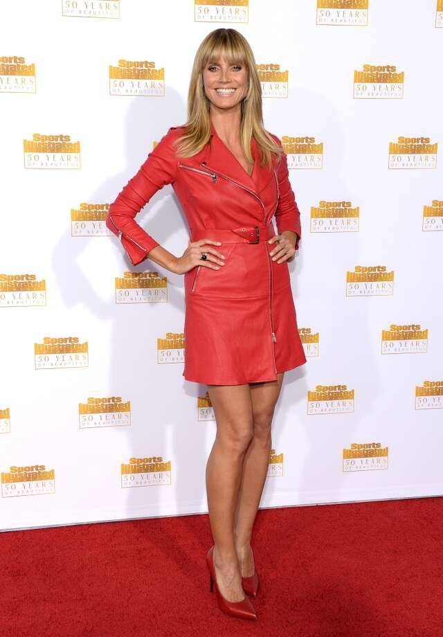 Host Heidi Klum attends NBC and Time Inc. celebrate the 50th anniversary of the Sports Illustrated Swimsuit Issue at Dolby Theatre on January 14, 2014 in Hollywood, California. Photo: Dimitrios Kambouris, Getty Images