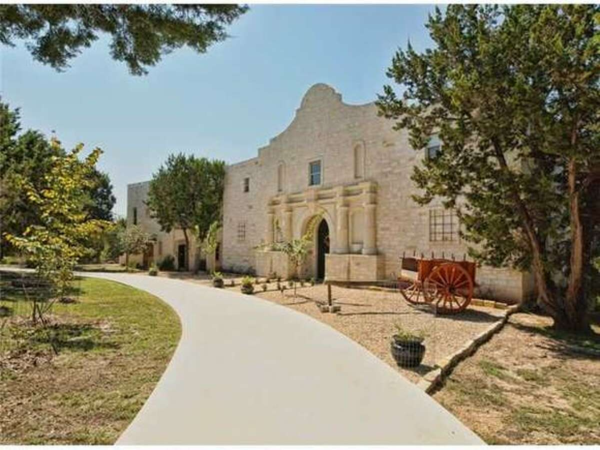 This Alamo replica home in Spicewood, north of Austin, is on the market for $1.35 million.