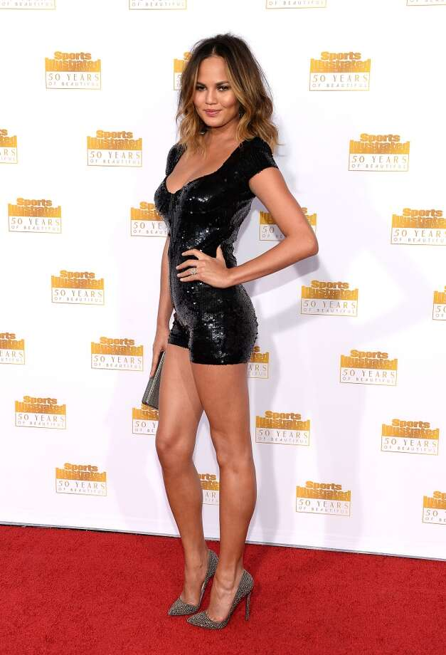 Model Christine Teigen attends NBC and Time Inc. celebrate the 50th anniversary of the Sports Illustrated Swimsuit Issue at Dolby Theatre on January 14, 2014 in Hollywood, California. Photo: Dimitrios Kambouris, Getty Images