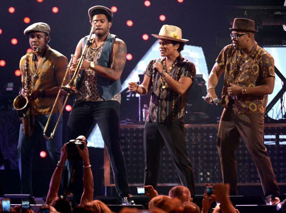 LAS VEGAS, NV - SEPTEMBER 21:  Bruno Mars performs onstage during the iHeartRadio Music Festival at the MGM Grand Garden Arena on September 21, 2013 in Las Vegas, Nevada.  (Photo by Jeff Kravitz/FilmMagic) Photo: FilmMagic
