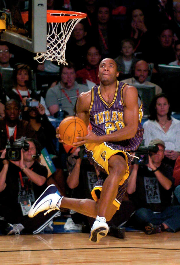 2004: Fred Jones   Location: Los Angeles Team: Indiana Pacers Photo: Mark J. Terrill, Associated Press