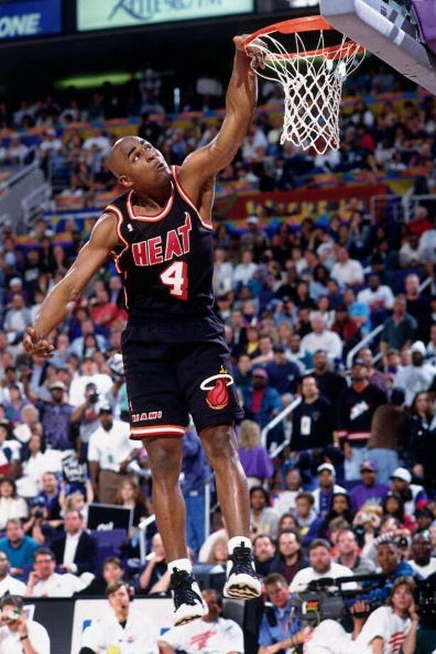 1995: Harold Miner   Location: Phoenix Team: Miami Heat Photo: Andrew D. Bernstein, NBAE/Getty Images