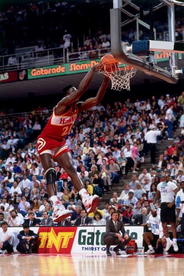 1990: Dominique Wilkins   Location: Miami Team: Atlanta Hawks Photo: Andrew D. Bernstein, NBAE/Getty Images