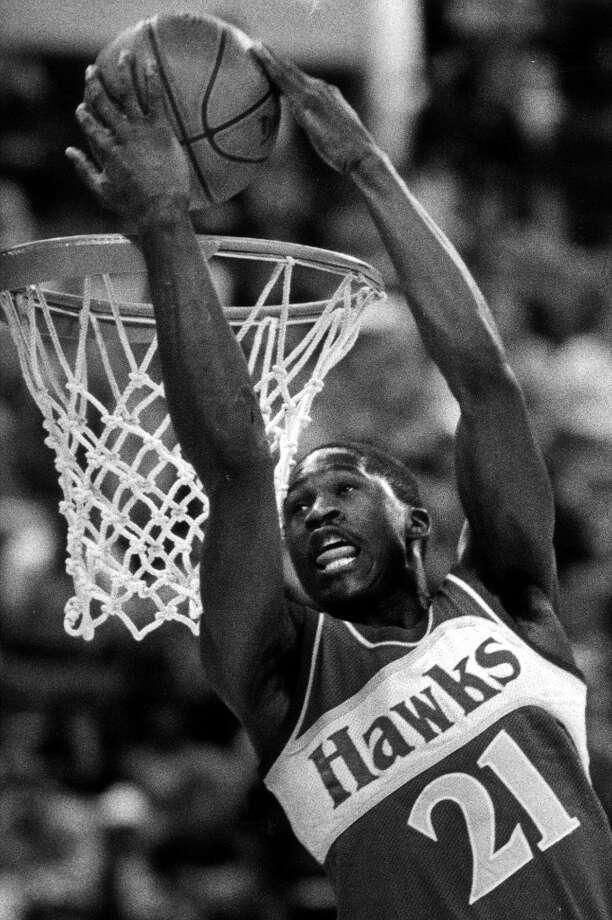 1985: Dominique Wilkins   Location: Indianapolis Team: Atlanta Hawks Photo: Doug Atkins, Associated Press