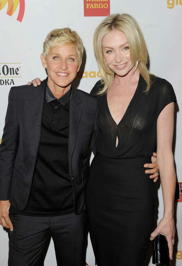 "Ellen DeGeneres & Portia de Rossi: ""Ribbon in the Sky"" by Stevie Wonder Photo: Jason Merritt, Getty Images For GLAAD / 2012 Getty Images"