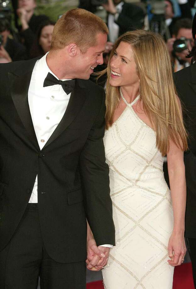 """Brad Pitt & Jennifer Aniston: """"The Way You Look Tonight"""" by Frank Sinatra Photo: Evan Agostini, Getty Images / 2004 Getty Images"""