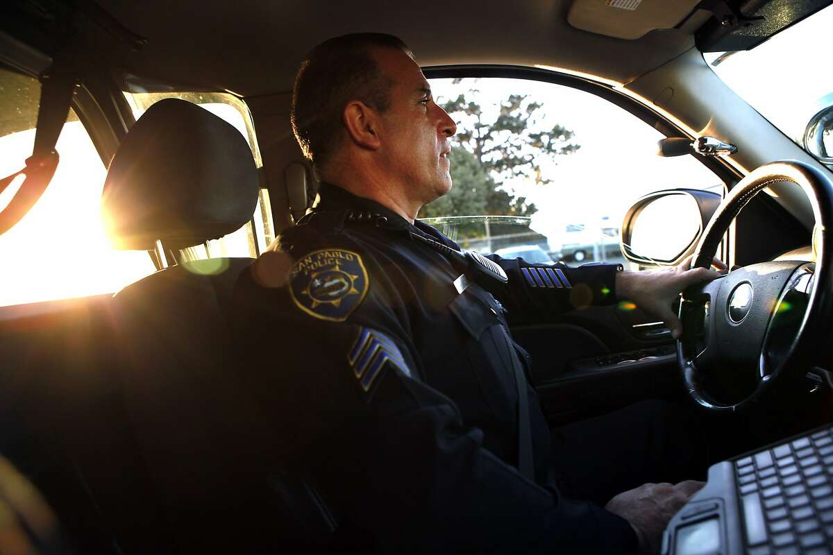 Having grown up in San Pablo, Sgt. Alvarez says he feels a great sense of responsibility and pride in policing the streets of his home town, in San Pablo, CA, Tuesday, January 14, 2014. San Pablo, CA, with a population of 30,000, had zero homicides last year, due in part to the police taking a more active role in the community with increased foot patrols, interactions with citizens and youth programs.
