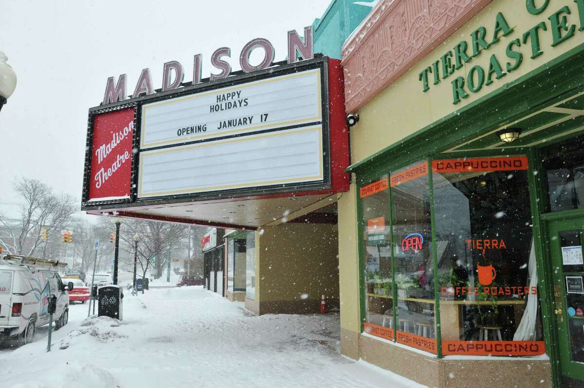 A view of the new marquee at the renovated Madison Theatre on Thursday, Jan. 2, 2014 in Albany, NY. (Paul Buckowski / Times Union)