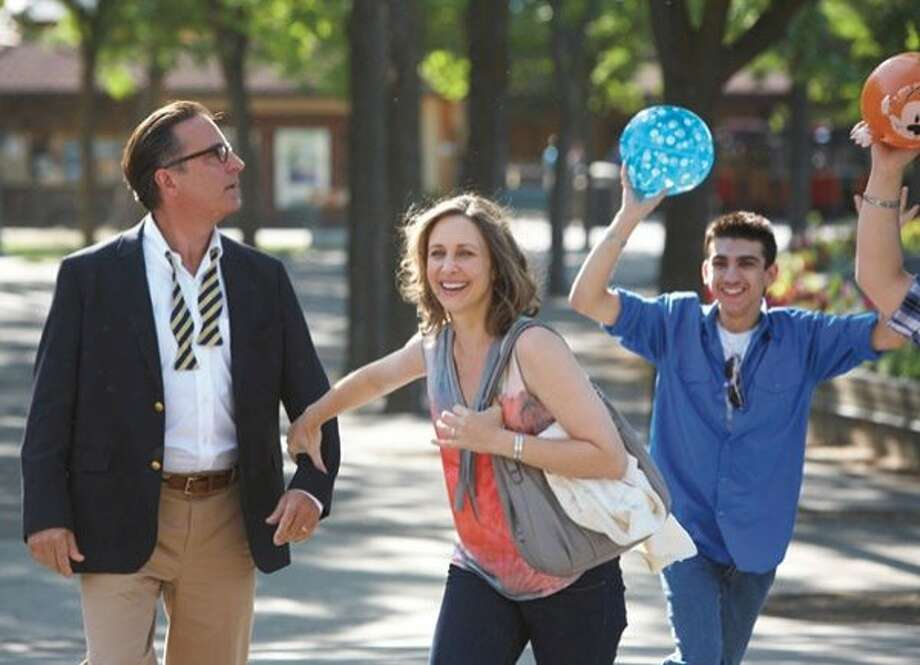 "Characters played by Andy Garcia and Vera Farmiga connect while taking their kids on a college tour in ""At Middleton."" Photo: Anchor Bay Films"