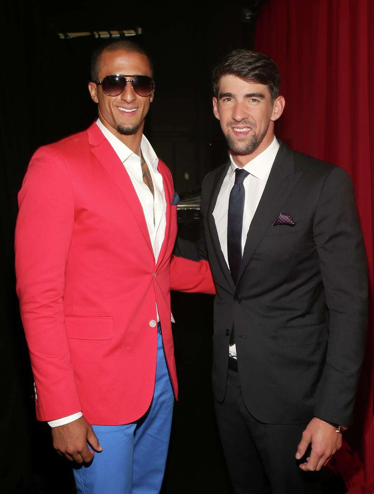 Quarterback Colin Kaepernick and Olympic swimmer Michael Phelps attend The 2013 ESPY Awards at Nokia Theatre L.A. Live on July 17, 2013 in Los Angeles, California.