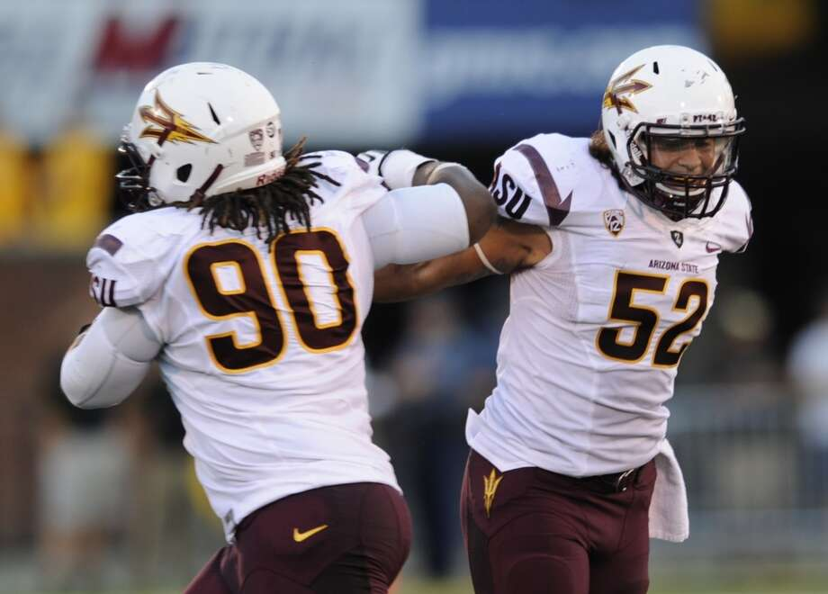 Carl Bradford (52)  Position: Defensive lineman/outside linebacker  School: Arizona State Photo: L.G. Patterson, Associated Press