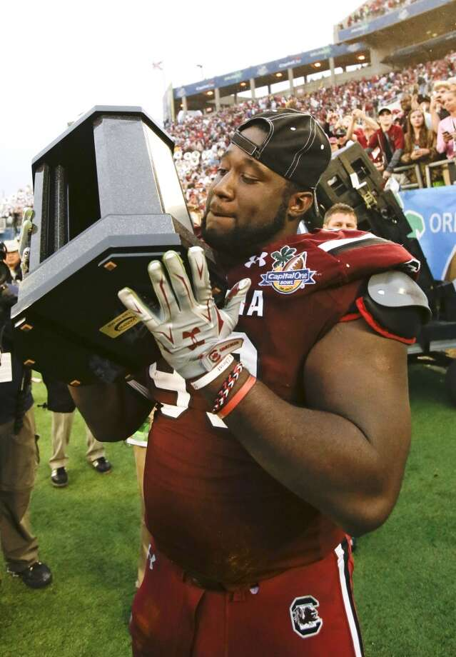 Kelcy Quarles  Position: Defensive lineman  School: South Carolina Photo: John Raoux, Associated Press