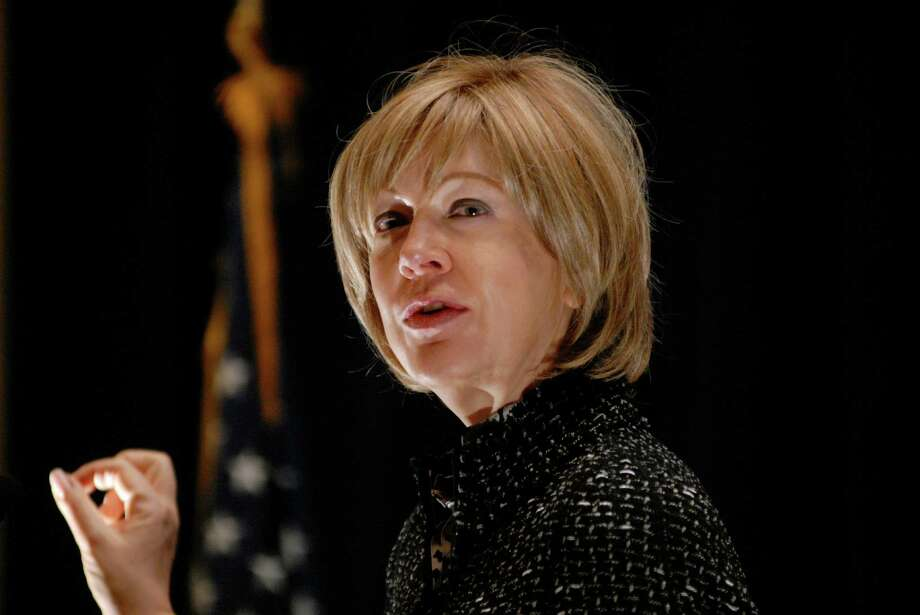 Rae Rosen, assistant vice president of the Federal Reserve Bank of New York, addresses the Business Council of Fairfield County's annual National Economic Outlook and Regional Forecast at the Stamford ( Conn.) Marriott on Friday, Jan. 11, 2013 Photo: Dru Nadler / Stamford Advocate Freelance