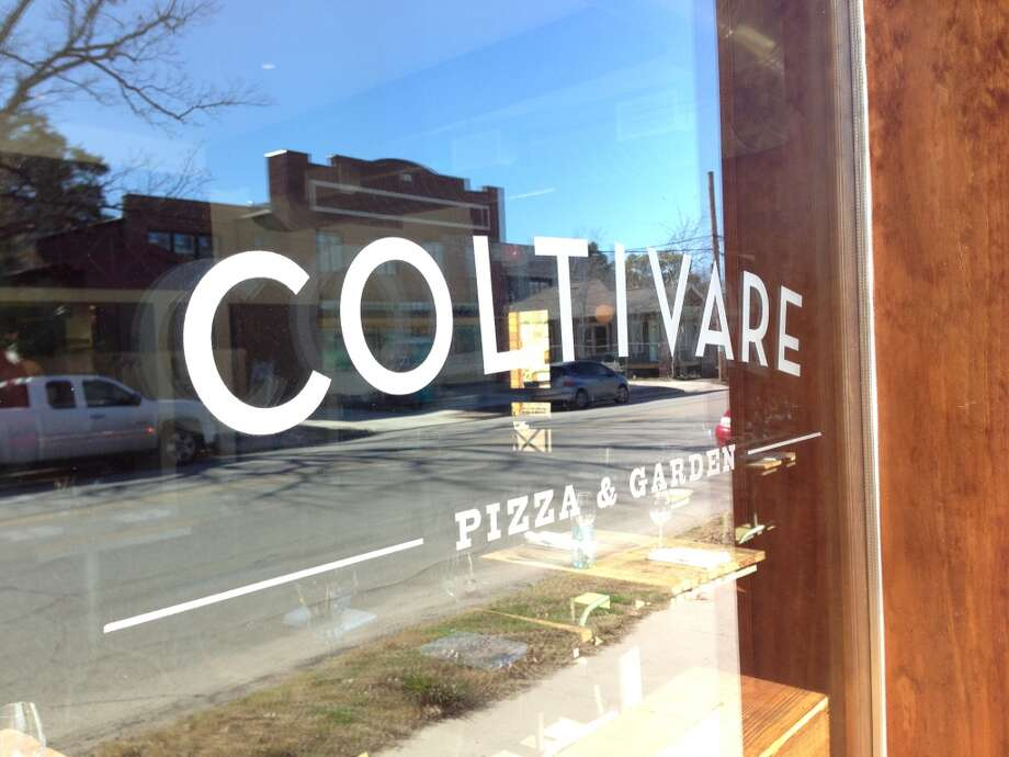 Window of new Coltivare in the Heights. (Photo: Greg Morago)