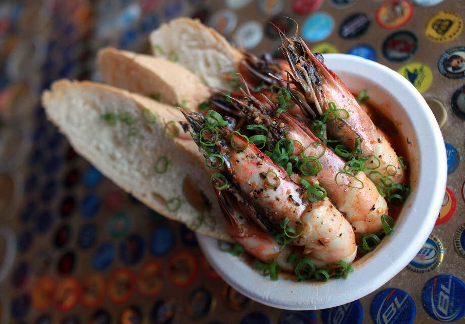 Where Y'At's New Orleans Barbecued Shrimp is among the Big Easy  fare from the food truck. Southern Living  gave the truck's food high marks. Photo: Express-News File Photo / SAN ANTONIO EXPRESS-NEWS