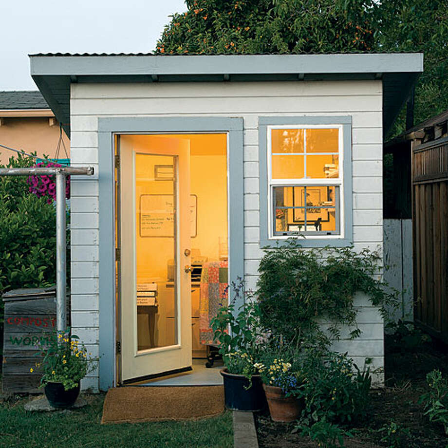 Garden Building Ideas Creative ideas for backyard retreats and garden sheds sfgate backyard home office martha mendozas days are filled with deadlines after school commitments workwithnaturefo