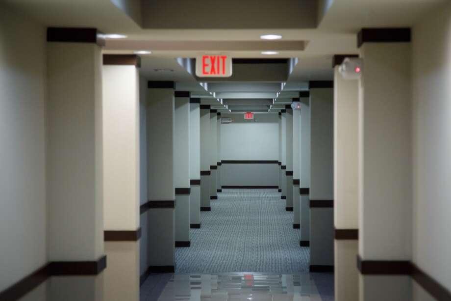 A hallway at 2900 West Dallas ( Michael Paulsen / Houston Chronicle ) Photo: Michael Paulsen, Houston Chronicle