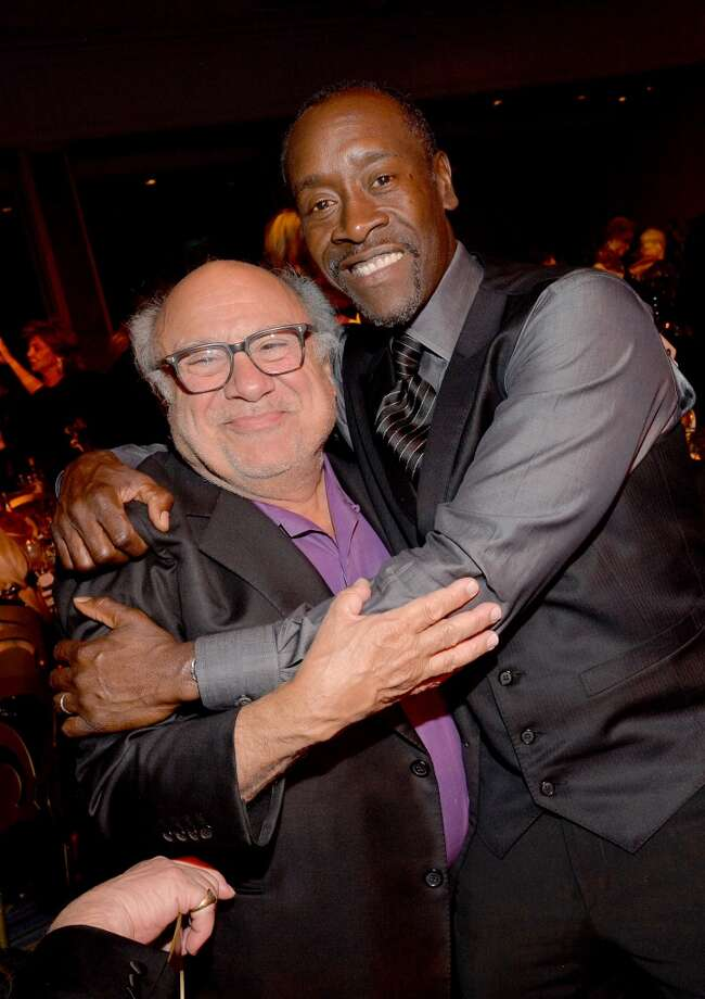 Actors Danny DeVito (L) and Don Cheadle attend the 2014 UNICEF Ball presented by Baccarat at the Beverly Wilshire Four Seasons Hotel on January 14, 2014 in Beverly Hills, California. Photo: Michael Buckner, Getty Images For UNICEF