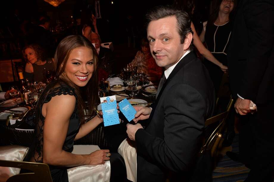 Actors Michael Sheen (R) and Toni Trucks attend the 2014 UNICEF Ball presented by Baccarat at the Beverly Wilshire Four Seasons Hotel on January 14, 2014 in Beverly Hills, California. Photo: Michael Buckner, Getty Images For UNICEF