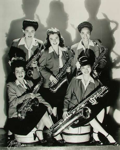 """The sax section of the International Sweethearts of Rhythm is shown in """"The Girls in the Band."""" Women were largely shut out until at least the '70s. Photo: InclusivePR"""