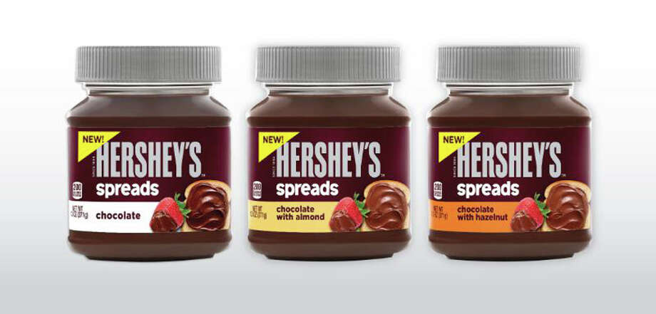 This photo provided by Hershey's shows a  new line of chocolate spreads, including a hazelnut variety reminiscent of Nutella, a spread made by the Italian company Ferrero.  The company announced the new product on Wednesday, Jan. 15, 2013. (AP Photo/The Hershey Company) ORG XMIT: NYBZ152 / The Hershey Company