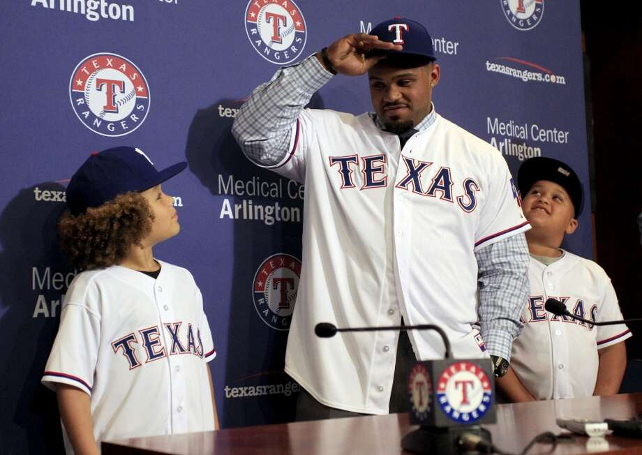 Prince Fielder, 1B Texas Rangers** 9 years - $214 million Term of contract: 2012-2020 Avg. annual value of contract: $23.7 million (**Originally signed contract with Detroit, was traded to Texas in 2013.) Photo: Richard W. Rodriguez, Associated Press
