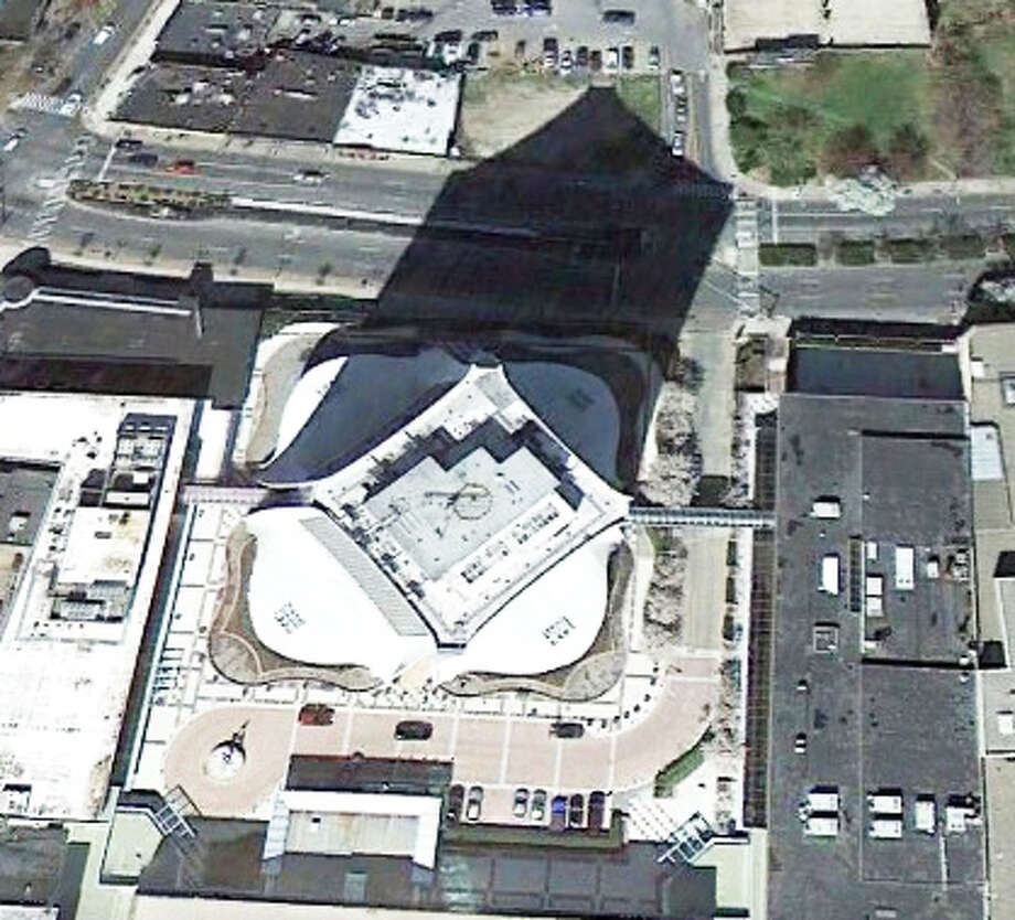 This building may look short from above but the shadow might give you a hint about its size. Photo: Google Earth Images