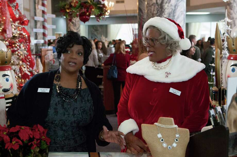 "Worst Actress nominee: Tyler PerryThis image released by Lionsgate shows Anna Maria Horsford, left, and Tyler Perry in a scene from ""Tyler Perry's A Madea Christmas. This nomination also includes Perry's ""Temptation."" Photo: KC Bailey, AP / Lionsgate"