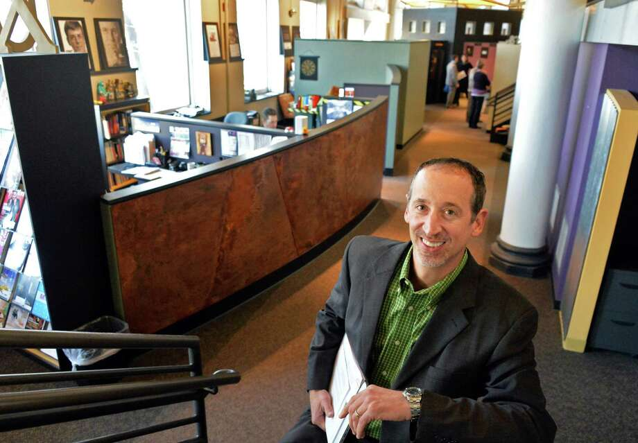 Burst Marketing C.E.O. Dave Vener in their new office space with advertising agency Smith & Jones on River Street Wednesday Jan. 15, 2014 in Troy, NY.  (John Carl D'Annibale / Times Union) Photo: John Carl D'Annibale / 00025348A