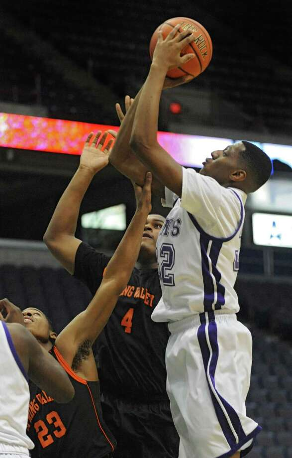 Catholic Central's Malik Miller goes up for a shot during a basketball game against Spring Valley at the Times Union Center on Monday, Jan. 13, 2014 in Albany, N.Y. (Lori Van Buren / Times Union) Photo: Lori Van Buren / 00025337A
