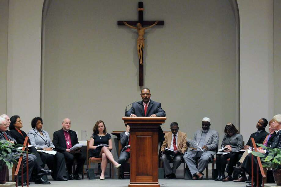 Willie J. White does a reading of the , I Have A Dream, speech the during 41st Annual Rev. Martin Luther King Jr. Interfaith Memorial Service at St. Vincent de Paul Church on Wednesday  Jan. 15, 2014 in Albany, N.Y.  (Michael P. Farrell/Times Union) Photo: Michael P. Farrell / 00025362A
