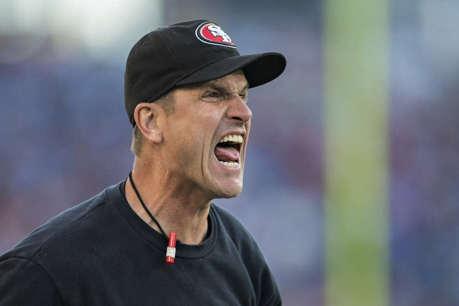 10. Jim HarbaughSan Francisco's head coach throws tantrums on the sidelines, calls fake punts at the end of sure wins, and whines about everything. Oh, and he all but accused the Seahawks of cheating. Classy.