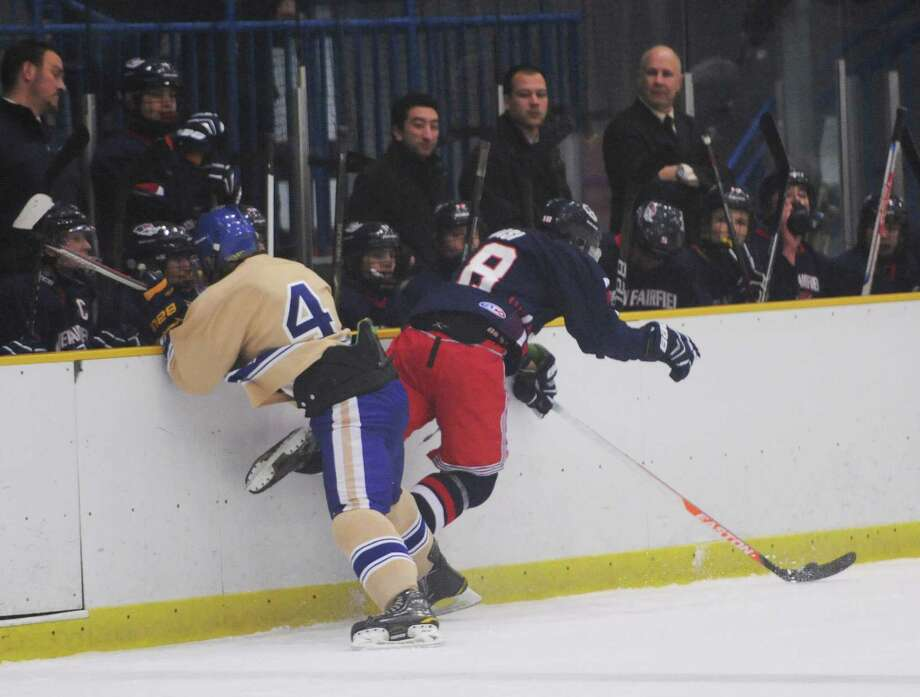 Photos from the high school hockey game between Newtown and New Fairfield/Immaculate at Danbury Arena in Danbury, Conn. on Wednesday, Jan. 15, 2014. Photo: Tyler Sizemore / The News-Times