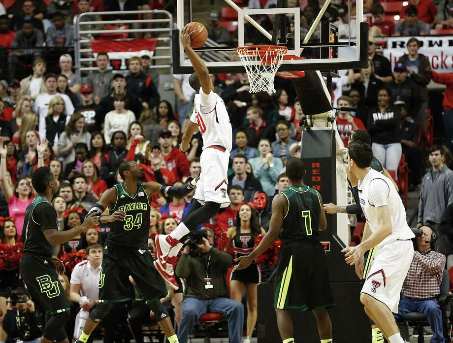 Texas Tech's Jaye Crockett rises for a jam Wednesday. The Red Raiders snapped a four-game skid against Baylor in Lubbock. Photo: Tori Eichberger / Lubbock Avalanche-Journal / Lubbock Avalanche-Journal