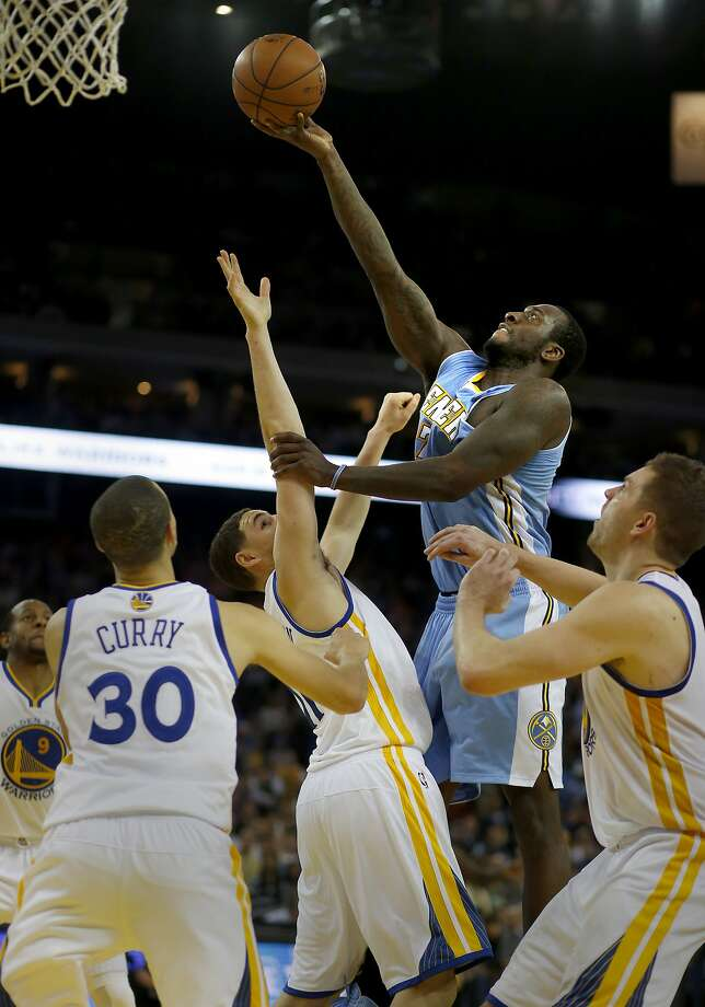 Denver's J.J. Hickson hit the go-ahead basket and also pulled down a career-high 24 rebounds. Photo: Brant Ward, The Chronicle