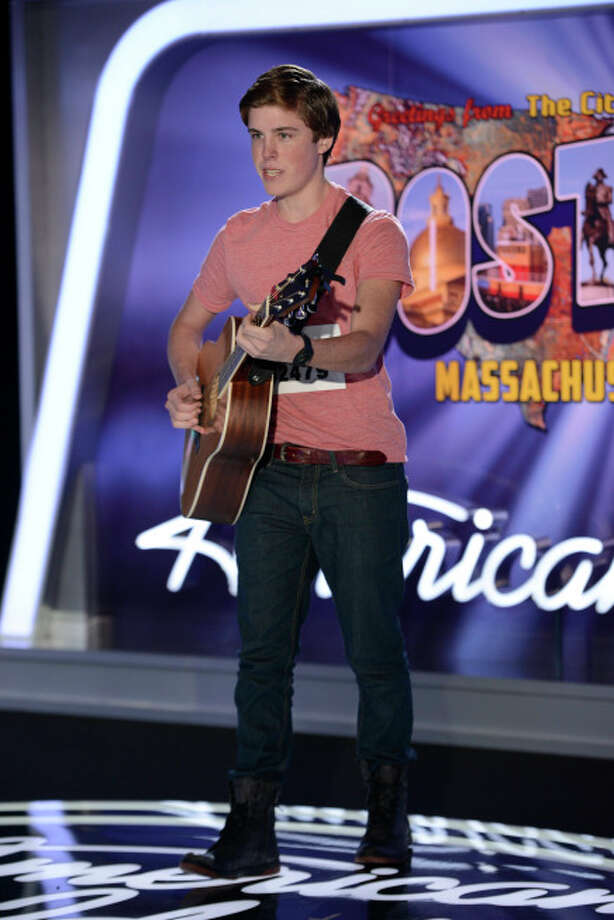AMERICAN IDOL XIII: Boston Auditions: Contestant Sam Woolf performs in front of the judges. AMERICAN IDOL XIII begins with a two-night, four-hour premiere Wednesday, Jan. 15 (8:00-10:00 PM ET/PT) and Thursday, Jan. 16 (8:00-10:00 PM ET/PT) on FOX.CR: Michael Becker / FOX. © Copyright 2013 FOX Broadcasting Co. / 1
