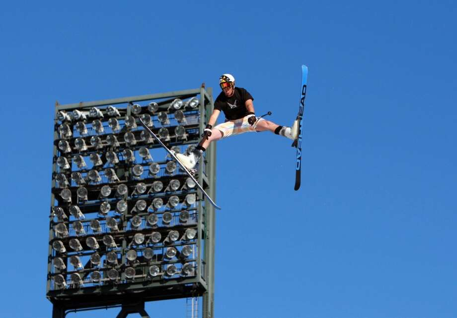 Jonny Moseley takes a jump during the preliminaries for the Big Air competition at AT&T Park in 2006. Photo: Laura Morton, Special To The Chronicle